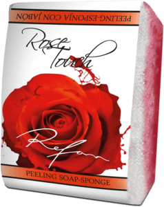 Rose Touch Peeling spugna-sapone