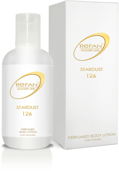 Perfumed body lotion with brocade