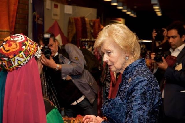 Princess Alexandra with a special gift from REFAN