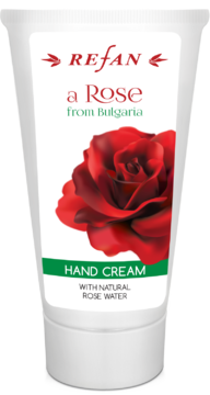 "CREMA MANI ""A ROSE FROM BULGARIA"" REFAN con acqua naturale di rosa"
