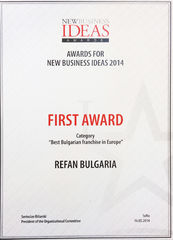 "Refan: ""Best Bulgarian Franchise in Europa"" nel 2014"