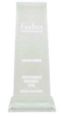 "Refan: Forbes business awards 2015 ""Sustainable bussiness"""