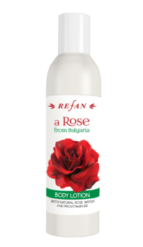 "LOZIONE CORPO ""A ROSE FROM BULGARIA"" con acqua naturale di rose e Provitamina B5"